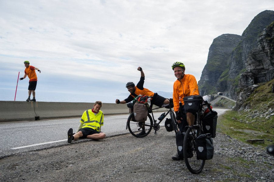 We ate like kings, says a filmmaker who biked across Norway, eating only expired food